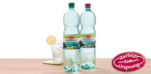 Mineralwasser, still, Tauernquelle, Februar 2012