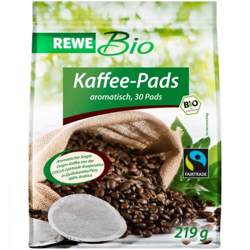 Kaffee-Pads (Fairtrade), Dezember 2017