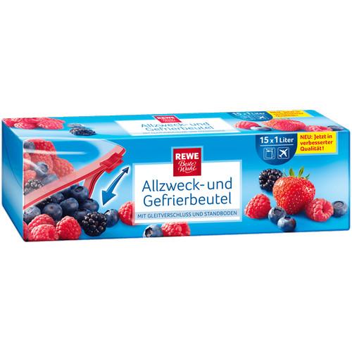 Allzweck- und Gefrierbeutel, 1 Liter, November 2016