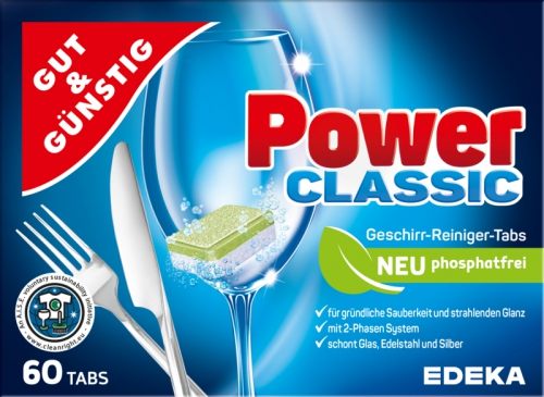 Geschirr-Reiniger-Tabs 'Power Classic', Dezember 2017