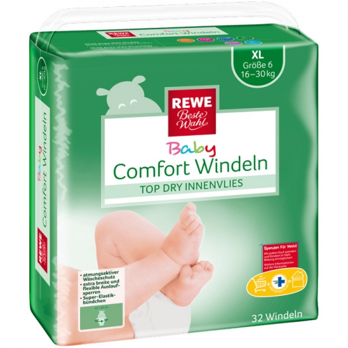 Baby-Comfort-Windeln XL, November 2017