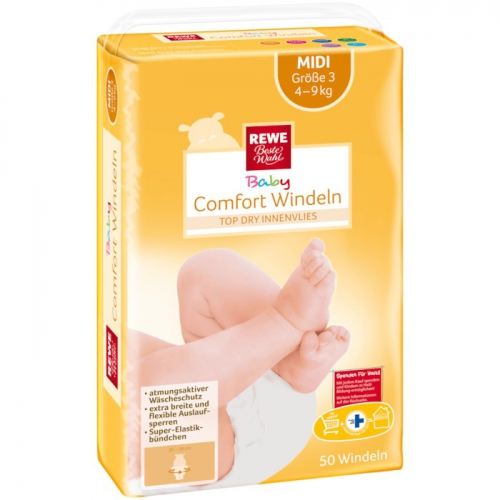 Baby-Comfort-Windeln Midi, November 2017