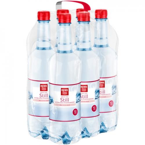 Mineralwasser Still 6x1l, April 2017