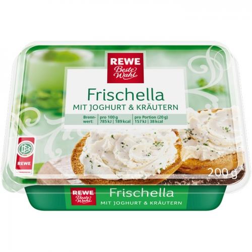 "Frischkäse ""Frischella"" mit Joghurt & Kräutern, Mai 2017"