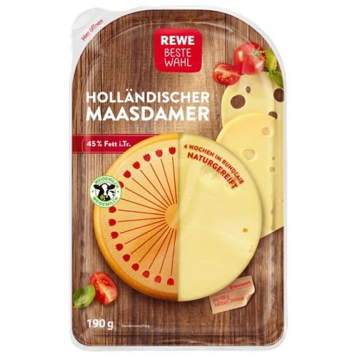 Holländischer Maasdamer, Scheiben, April 2018