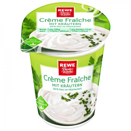 Crème Fraîche mit Kräutern, November 2017