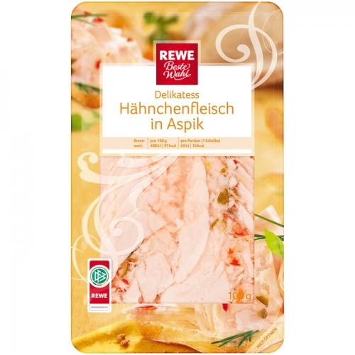 Hähnchenfleisch in Aspik, November 2017