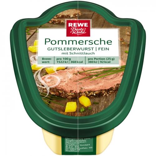 Pommersche Gutsleberwurst fein mit Schnittlauch, M�rz 2017