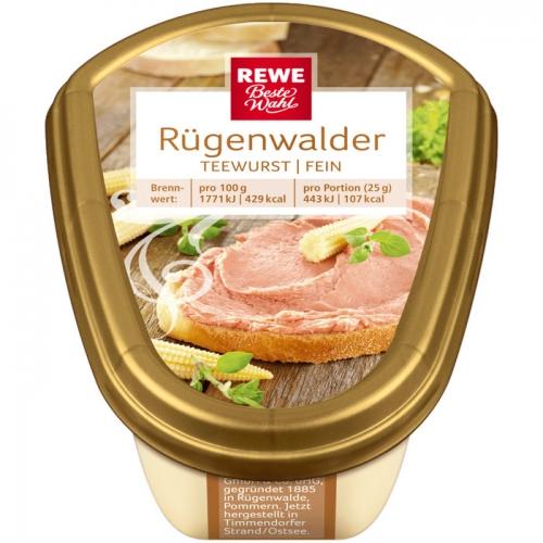 Rügenwalder Teewurst fein, M�rz 2017