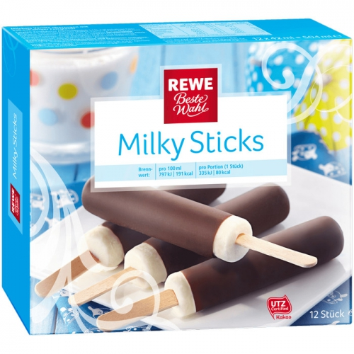 Milky Sticks - Stieleis, M�rz 2017