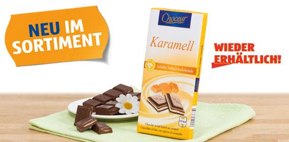 Milchschokolade, gefüllt, Karamell, September 2012