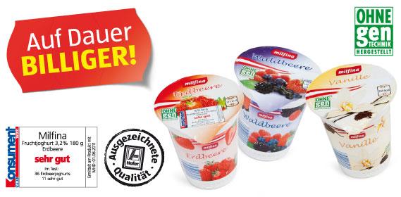 Fruchtjoghurt 3,2% Fett, Juni 2012