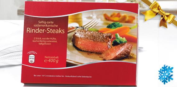 Rinder-Steaks, 2er, M�rz 2013