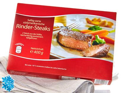 Rinder-Steaks, 2er, M�rz 2014