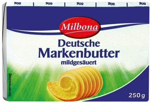 Deutsche Markenbutter, August 2017
