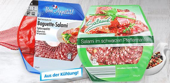 Salami Aufschnitt-Sortiment, Januar 2012