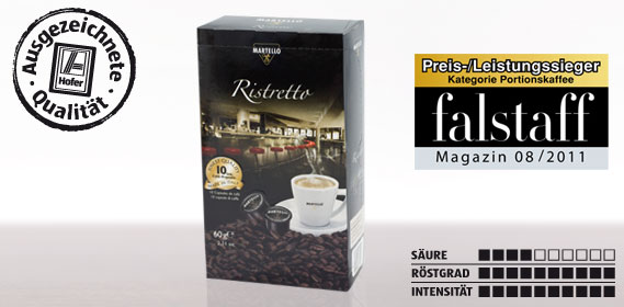Kaffee-Kapsel Ristretto, Februar 2012