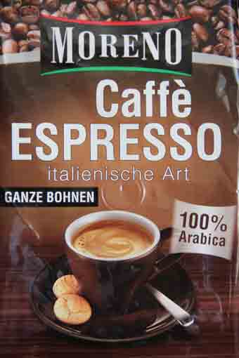 Caffè Espresso, ganze Bohnen, Mai 2011