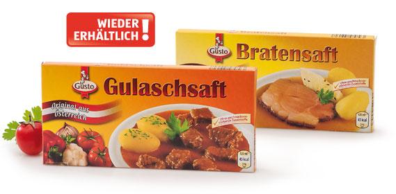 Gulasch- / Bratensaft, November 2013