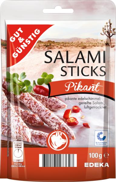 Salami Sticks pikant, Dezember 2017