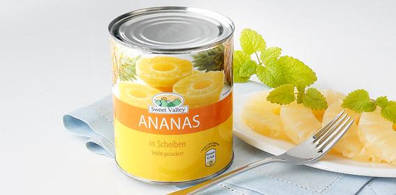 Ananas, Scheiben, Juli 2010