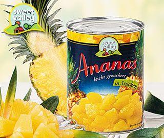 Ananas-Stücke, Oktober 2007