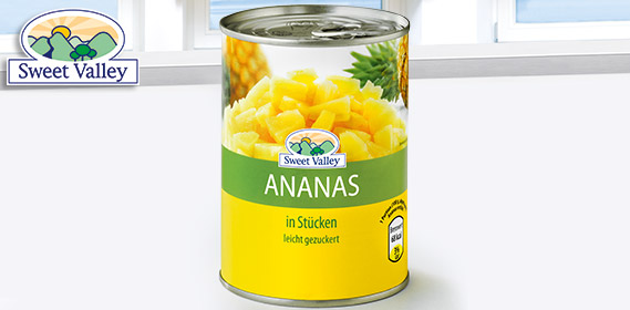 Ananas-Stücke, August 2012
