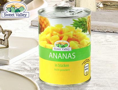 Ananas-Stücke, Dezember 2013