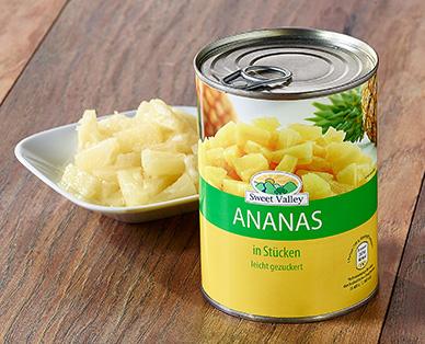 Ananas-Stücke, Dezember 2014