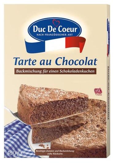Tarte au Chocolat Backmischung, September 2017