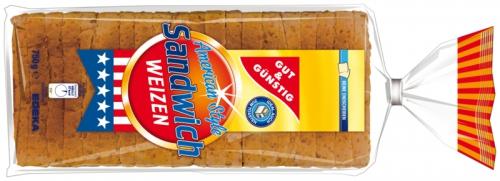 Sandwich-Toast Weizen, Dezember 2017