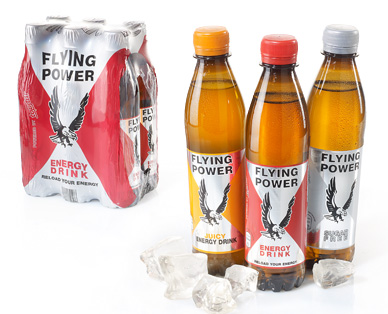 Energy Drink, Flying Power, 6x 0,33 L (PET), Dezember 2014