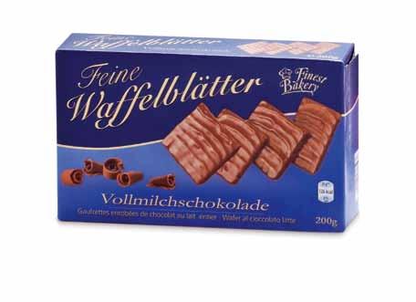 Waffelblätter mit Vollmilch oder Zartbitterschokolade, Oktober 2012