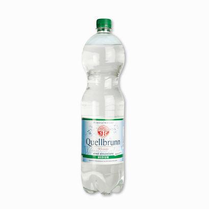 Mineralwasser Medium, 6x1,5 l, Februar 2012
