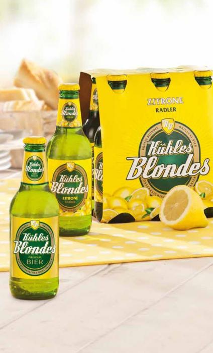 Kühles Blondes Radler, 6 x 0,33 l, August 2012