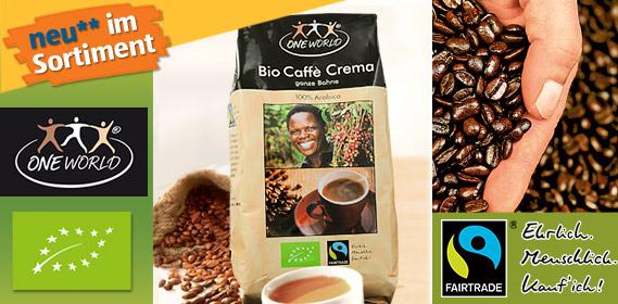 Bio Caffè Crema, Ganze Bohne, Mai 2011