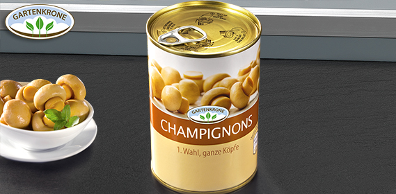 Champignons, 1. Wahl, ganze Köpfe, Dezember 2012