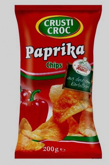 Kartoffelchips - Paprika, Dezember 2014