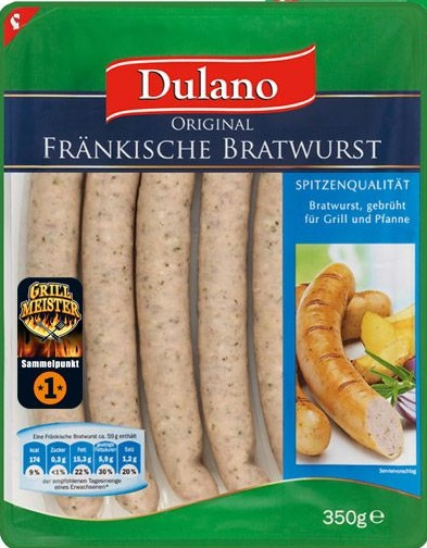 Fränkische Bratwurst, Juni 2017