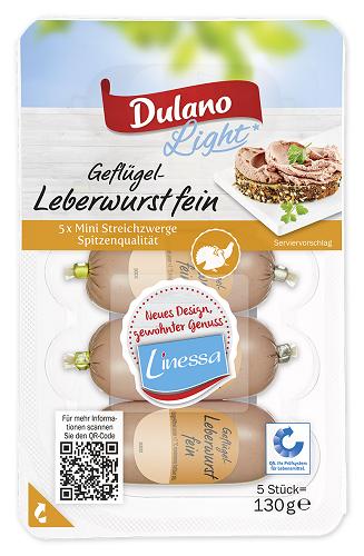 Geflügel-Leberwurst, fein, 5 Stück, September 2017