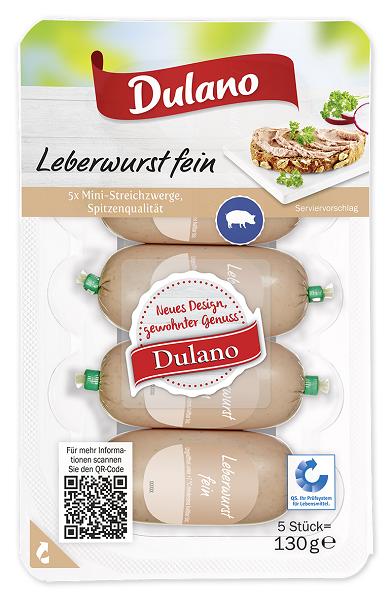Leberwurst, fein, 5 Stück, Oktober 2017