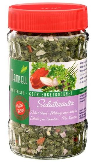 Salatkräuter, gefriergetrocknet, Juni 2017