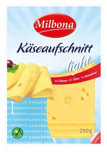 light Käseaufschnitt in Scheiben, September 2017