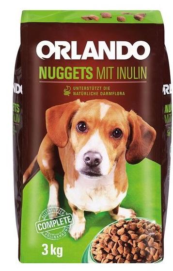 Hundenahrung Nuggets mit Inulin, Juni 2017