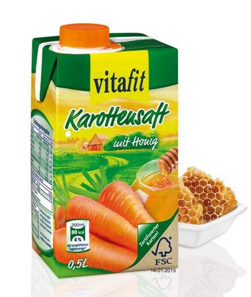 Karottensaft mit Honig, Januar 2015