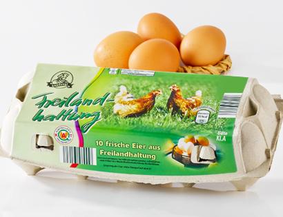 Eier aus Freilandhaltung, Januar 2014