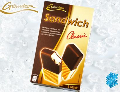 grandessa sandwich eis 8x 90 ml von aldi s d. Black Bedroom Furniture Sets. Home Design Ideas