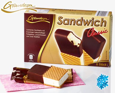 Sandwich Eis, 8x 90 ml, August 2014