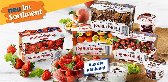 Joghurt-Minis, 4x 100 g, August 2011