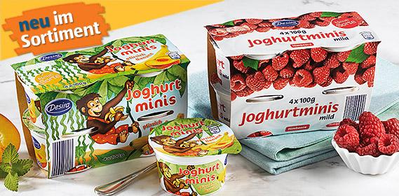 Joghurt-Minis, 4x 100 g, August 2012